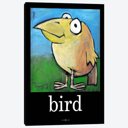 Bird Poster Canvas Print #TNG70} by Tim Nyberg Canvas Wall Art