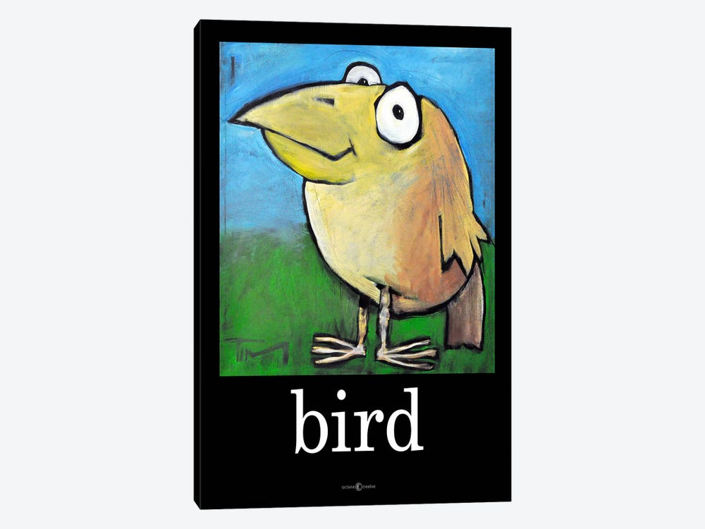 Bird Poster by Tim Nyberg 1-piece Canvas Art Print