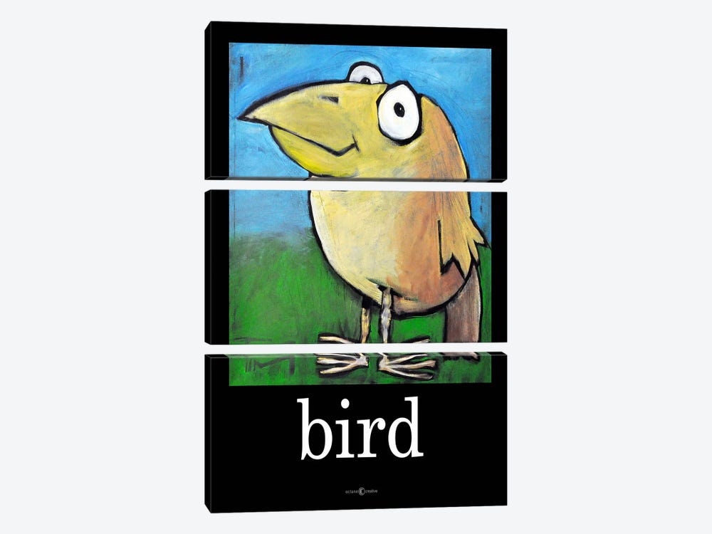 Bird Poster by Tim Nyberg 3-piece Canvas Art Print