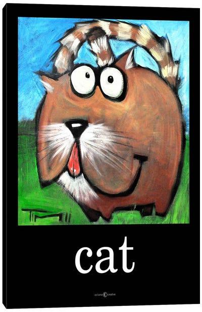 Cat Poster Canvas Art Print