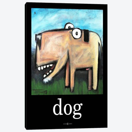Dog Poster 1 Canvas Print #TNG73} by Tim Nyberg Canvas Art