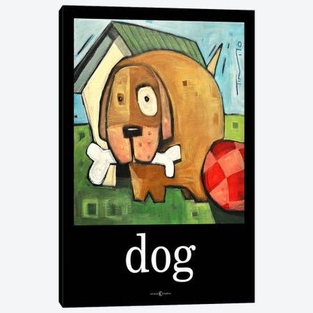 Dog Poster 2 Canvas Print #TNG74} by Tim Nyberg Canvas Art Print