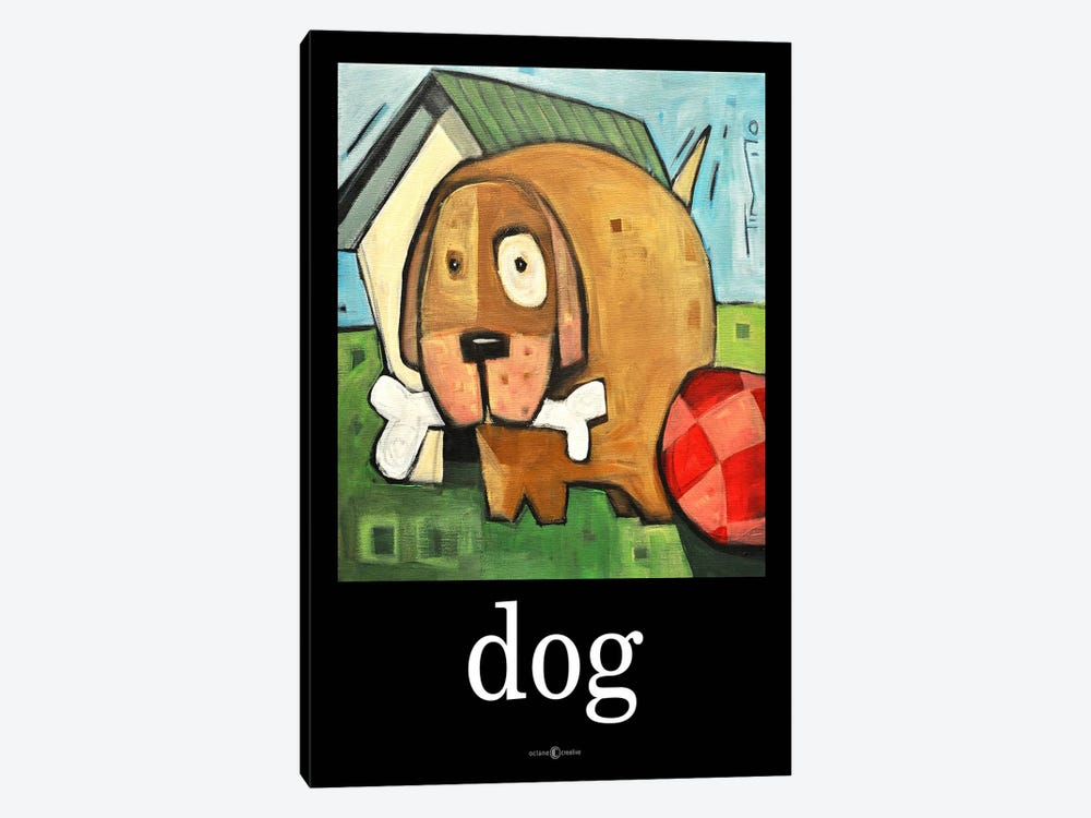 Dog Poster 2 by Tim Nyberg 1-piece Canvas Art Print