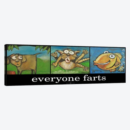Everyone Farts Poster Canvas Print #TNG75} by Tim Nyberg Canvas Art Print
