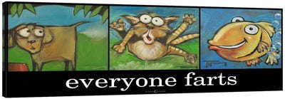 Everyone Farts Poster Canvas Art Print