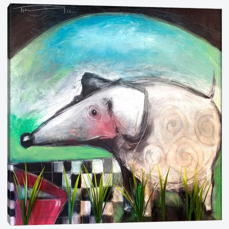 Fancy Dog At Picnic Canvas Print #TNG76} by Tim Nyberg Art Print