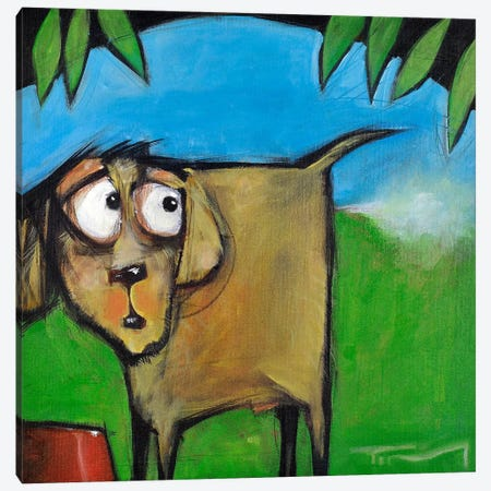 Farting Dog Canvas Print #TNG77} by Tim Nyberg Canvas Art Print