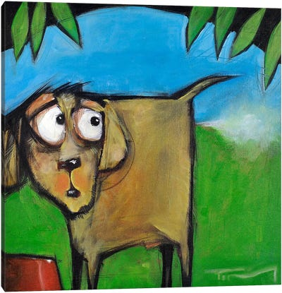 Farting Dog Canvas Art Print