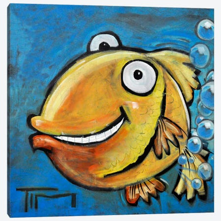Farting Fish Canvas Print #TNG79} by Tim Nyberg Canvas Wall Art