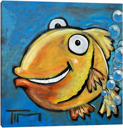 Farting Fish Canvas Art Print