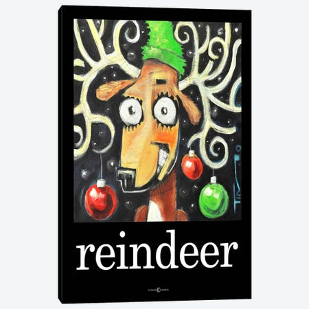 Reindeer Poster Canvas Print #TNG85} by Tim Nyberg Canvas Wall Art