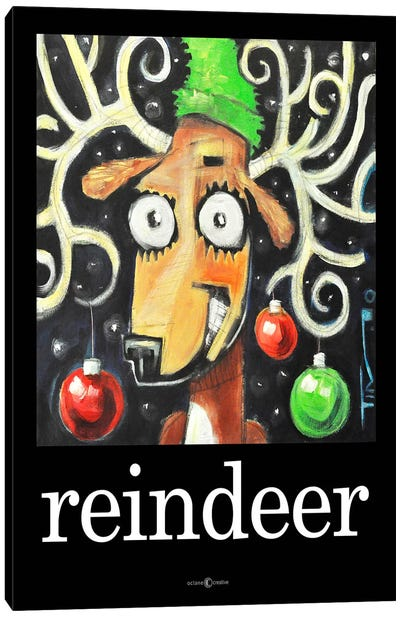 Reindeer Poster Canvas Art Print