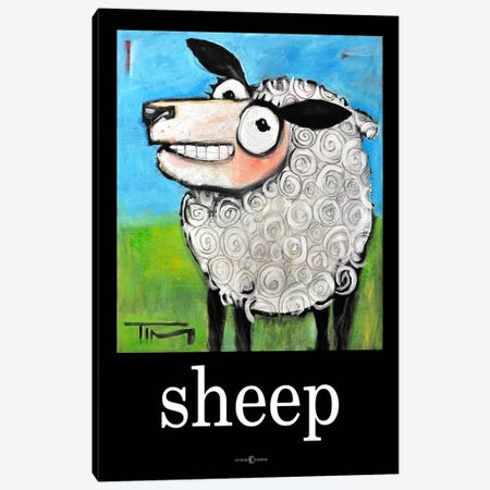 Sheep Poster Canvas Print #TNG86} by Tim Nyberg Canvas Art