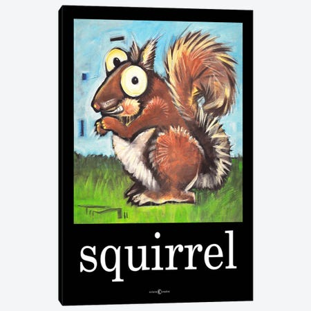 Squirrel Poster Canvas Print #TNG88} by Tim Nyberg Canvas Print