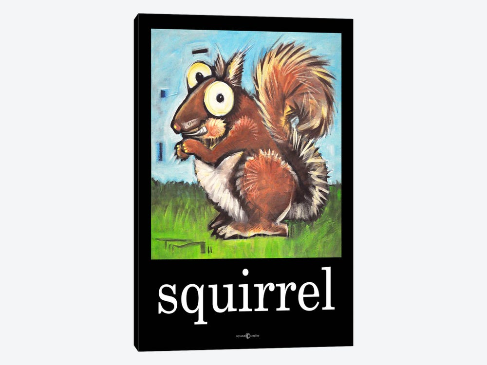 Squirrel Poster by Tim Nyberg 1-piece Canvas Wall Art