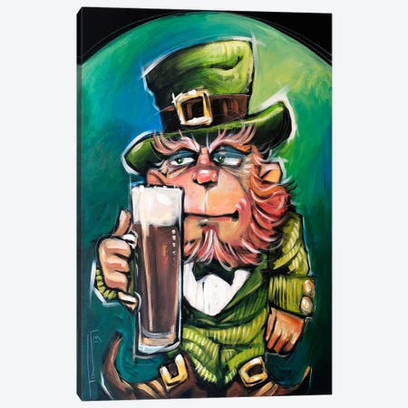 Leprechaun Canvas Print #TNG92} by Tim Nyberg Canvas Artwork