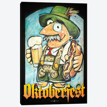 Oktoberfest Guy Canvas Print #TNG93} by Tim Nyberg Canvas Wall Art