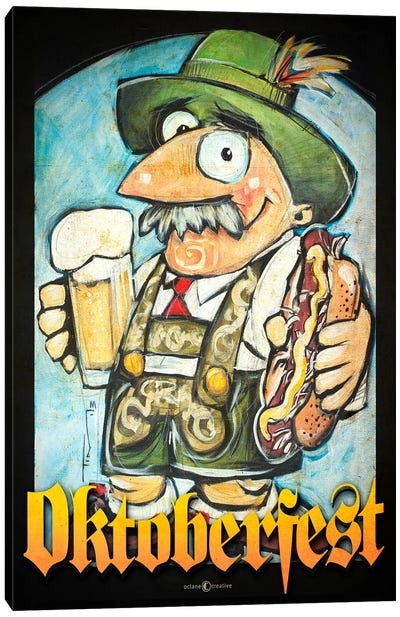 Oktoberfest Guy Canvas Art Print