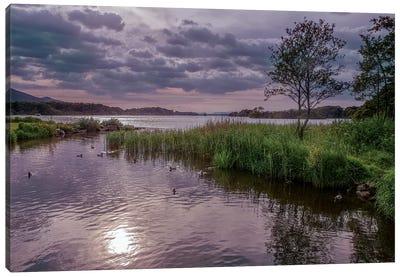County Kerry. Killarney National Park. Ireland. Sunset Over Lake. Unesco Biosphere Reserve. Canvas Art Print