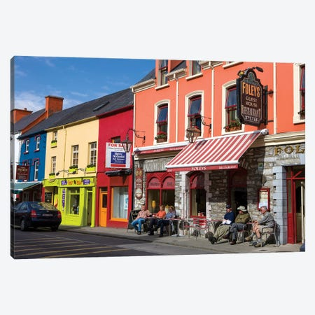 Colorful Downtown Architecture, Kenmare, County Kerry, Munster Province, Republic Of Ireland Canvas Print #TNO1} by Tom Norring Canvas Art