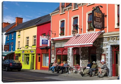 Colorful Downtown Architecture, Kenmare, County Kerry, Munster Province, Republic Of Ireland Canvas Art Print