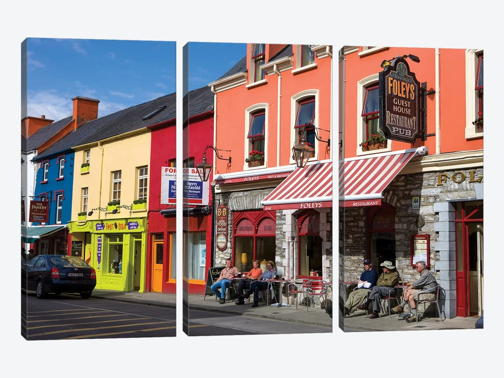 Colorful Downtown Architecture, Kenmare, County Kerry, Munster Province, Republic Of Ireland by Tom Norring 3-piece Canvas Art