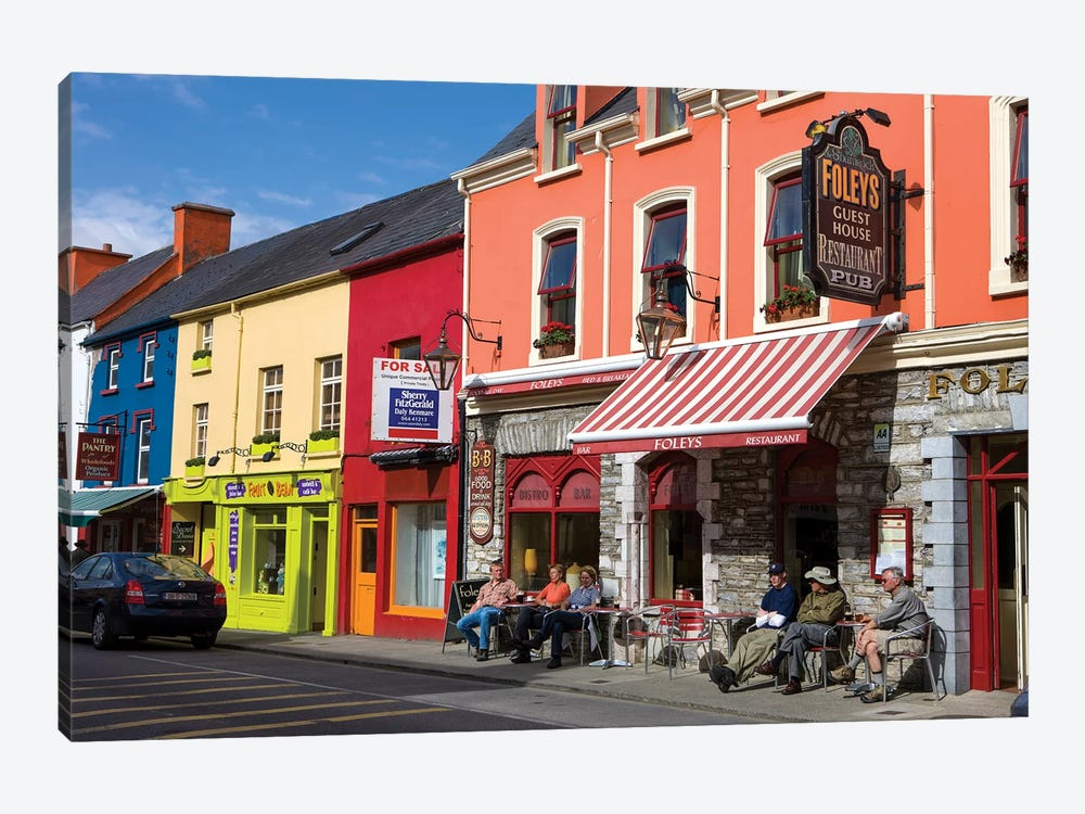 Colorful Downtown Architecture, Kenmare, County Kerry, Munster Province, Republic Of Ireland by Tom Norring 1-piece Canvas Art
