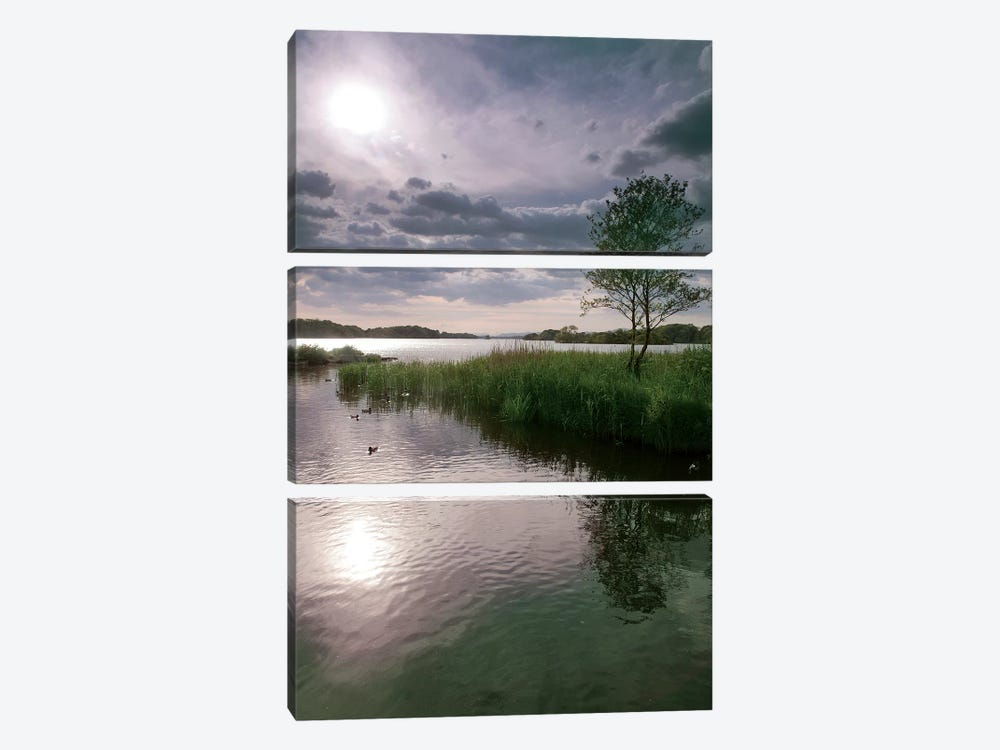 County Kerry. Killarney National Park. Ireland. Sunset Over Lake. Unesco Biosphere Reserve. by Tom Norring 3-piece Canvas Art Print