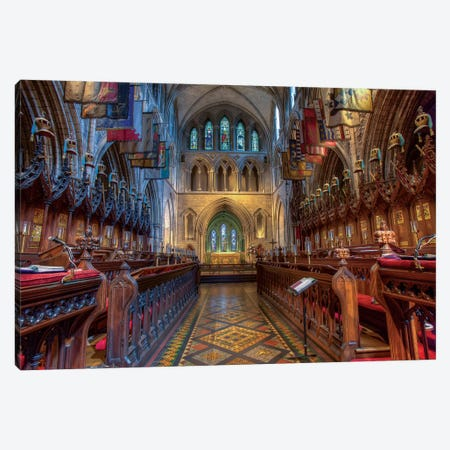 Dublin, Ireland. Cathedral Of The Blessed Virgin Mary And St Patrick (Aka St. Patrick's Cathedral). 3-Piece Canvas #TNO21} by Tom Norring Canvas Art Print