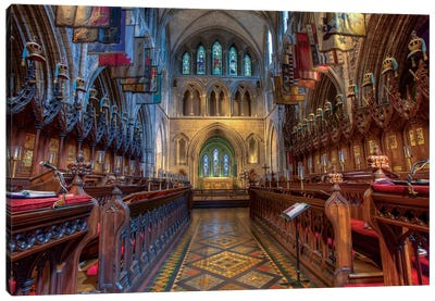 Dublin, Ireland. Cathedral Of The Blessed Virgin Mary And St Patrick (Aka St. Patrick's Cathedral). Canvas Art Print