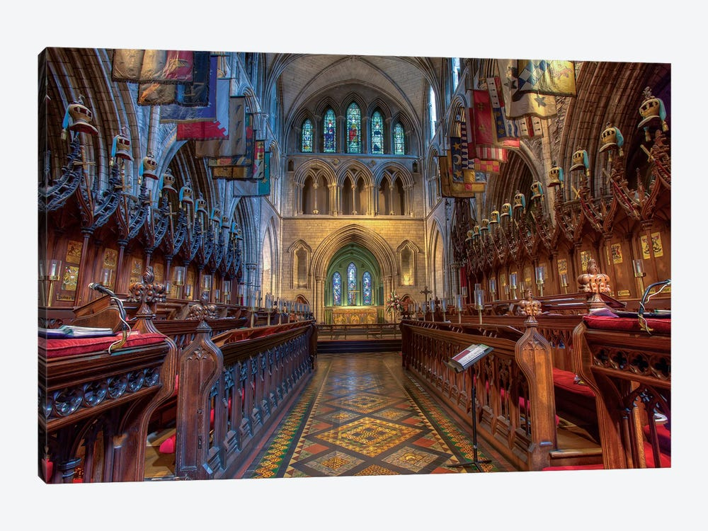 Dublin, Ireland. Cathedral Of The Blessed Virgin Mary And St Patrick (Aka St. Patrick's Cathedral). by Tom Norring 1-piece Canvas Wall Art