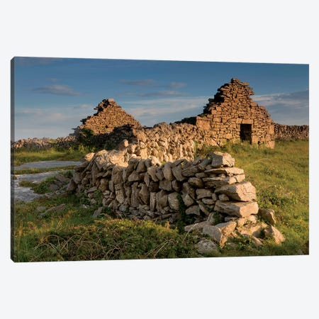 Inishmore Island. Aran Islands. Ireland. Abandoned Homestead. Canvas Print #TNO24} by Tom Norring Canvas Artwork