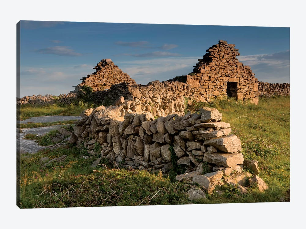 Inishmore Island. Aran Islands. Ireland. Abandoned Homestead. by Tom Norring 1-piece Canvas Art Print