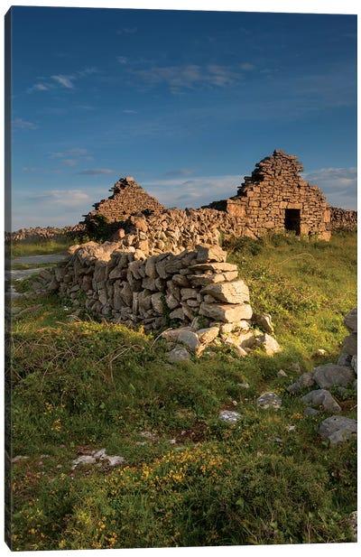 Inishmore Island. Aran Islands. Ireland. Abandoned Homestead. Canvas Art Print