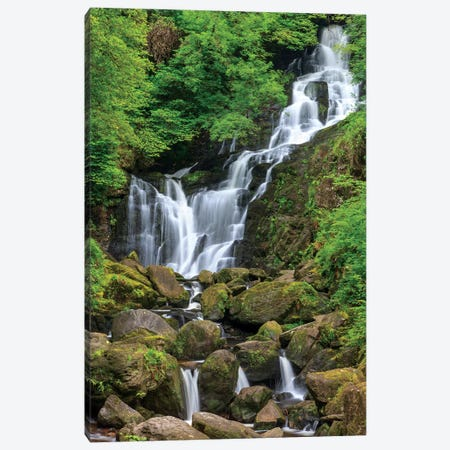 Killarney National Park, County Kerry, Ireland. Torc Waterfall. Canvas Print #TNO30} by Tom Norring Canvas Art