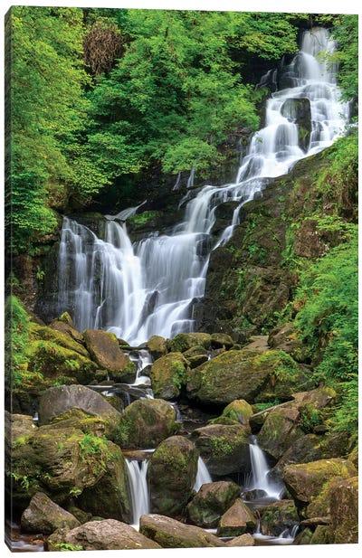 Killarney National Park, County Kerry, Ireland. Torc Waterfall. Canvas Art Print