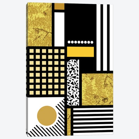 Stay Gold Canvas Print #TNS105} by The Native State Canvas Art