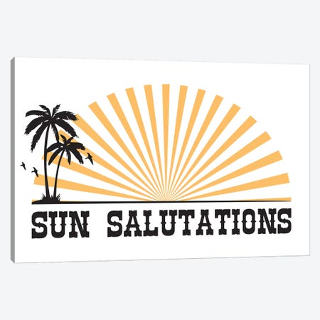 Sun Salutations Canvas Print #TNS108} by The Native State Art Print