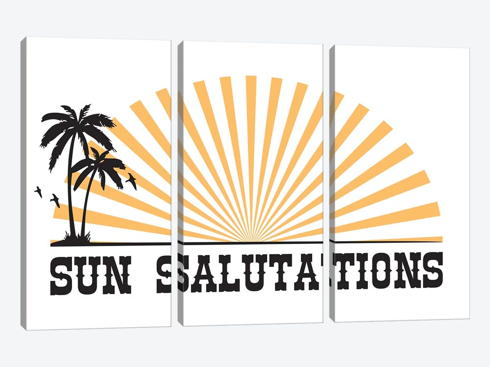 Sun Salutations by The Native State 3-piece Canvas Print