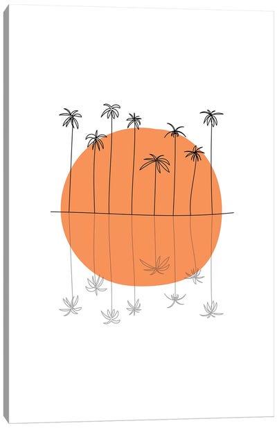 Sunset Palm Canvas Art Print