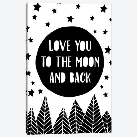 To The Moon Canvas Print #TNS117} by The Native State Canvas Art Print