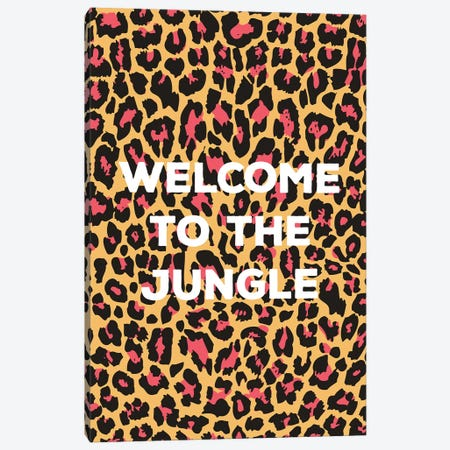 Welcome To The Jungle Canvas Print #TNS123} by The Native State Canvas Art Print