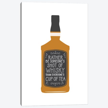 Whisky Shot Canvas Print #TNS124} by The Native State Canvas Artwork
