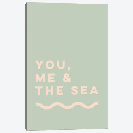 You, Me & The Sea Canvas Print #TNS127} by The Native State Canvas Art