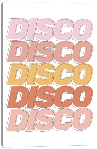 Disco Disco Disco Canvas Art Print