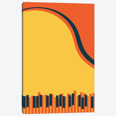 Grand Piano Canvas Print #TNS130} by The Native State Canvas Wall Art