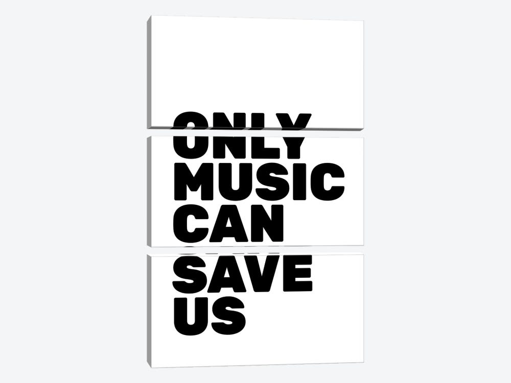 Only Music Can Save Us by The Native State 3-piece Canvas Art Print