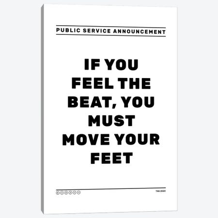 Feel The Beat Canvas Print #TNS136} by The Native State Art Print