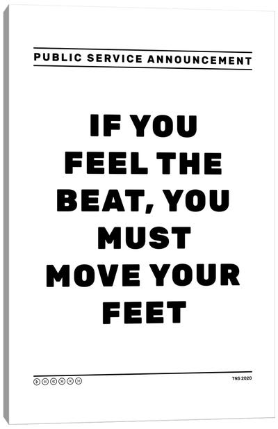 Feel The Beat Canvas Art Print
