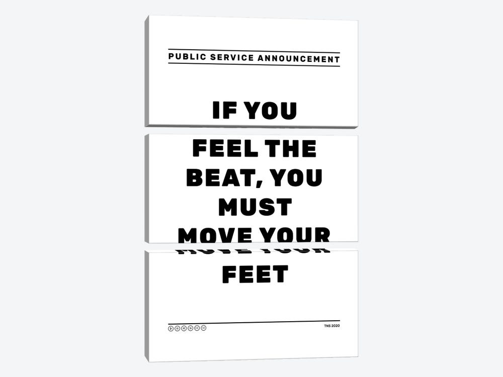 Feel The Beat by The Native State 3-piece Canvas Wall Art